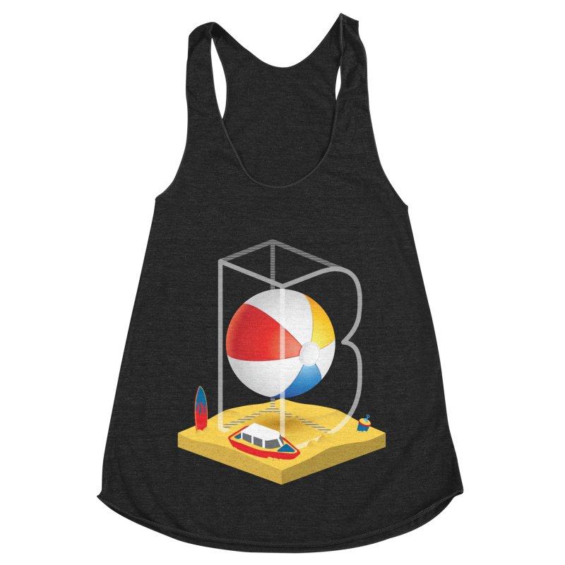 B is for,,, Women's Racerback Triblend Tank by Rocket Artist Shop