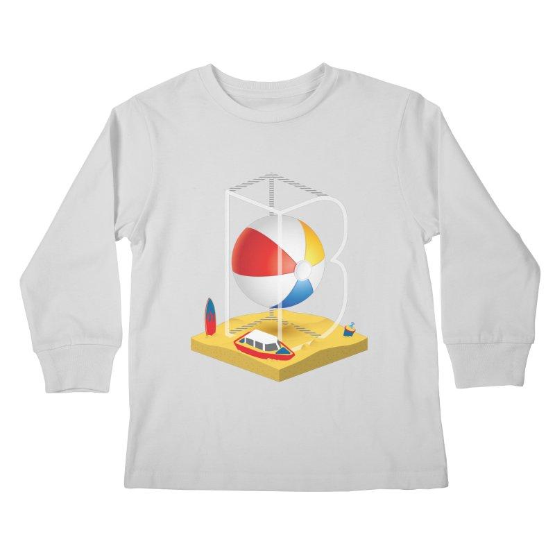 B is for,,, Kids Longsleeve T-Shirt by Rocket Artist Shop