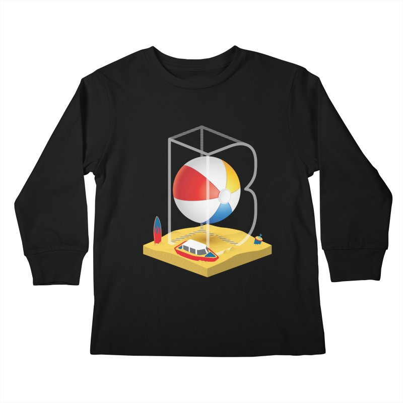 B is for,,, Kids Longsleeve T-Shirt by Rocket Artist Shop