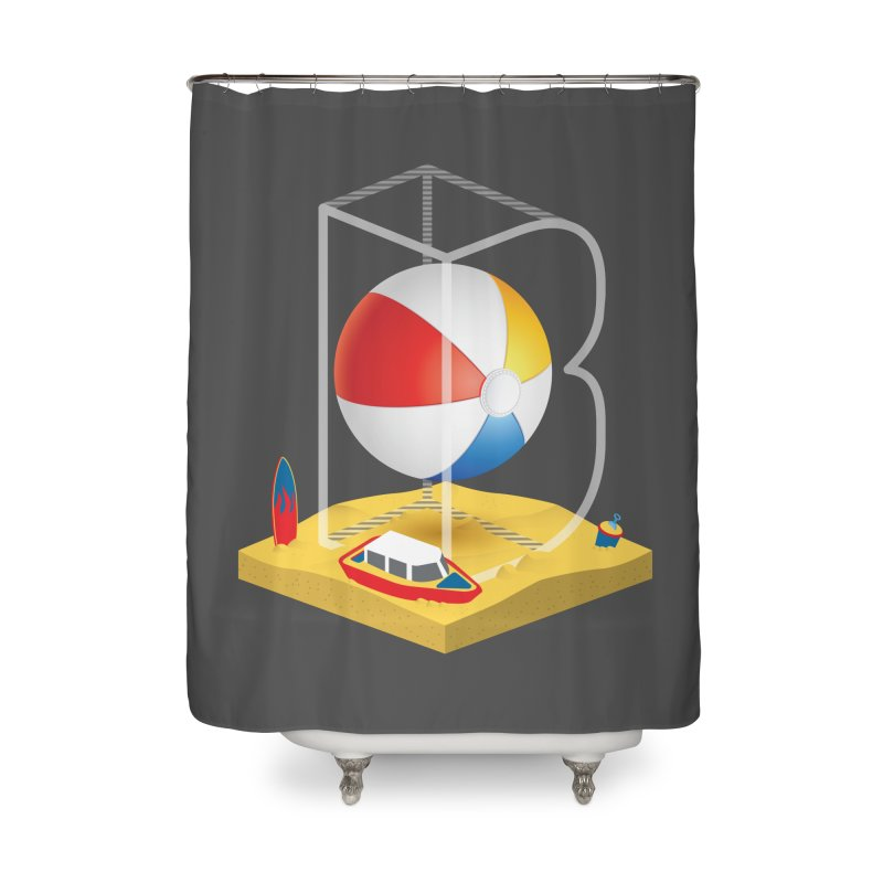 B is for,,, Home Shower Curtain by Rocket Artist Shop