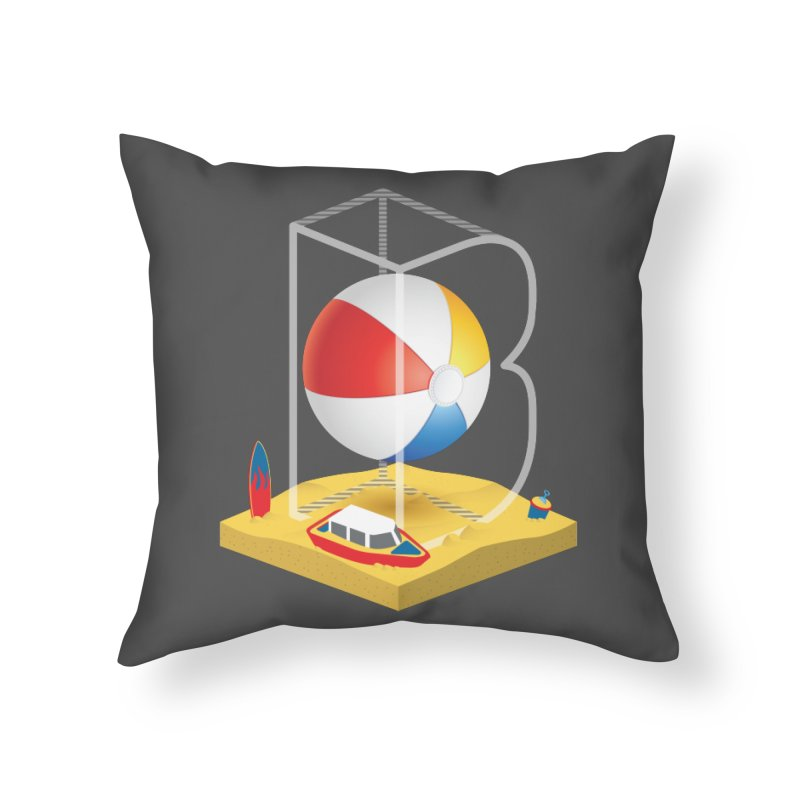 B is for,,, Home Throw Pillow by Rocket Artist Shop