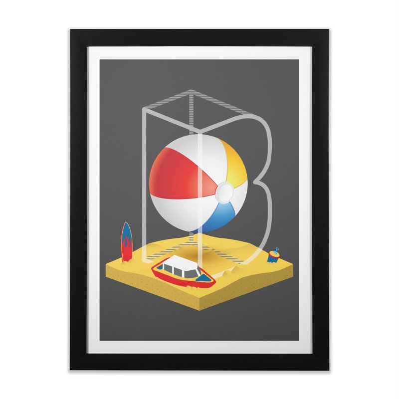 B is for,,, Home Framed Fine Art Print by Rocket Artist Shop