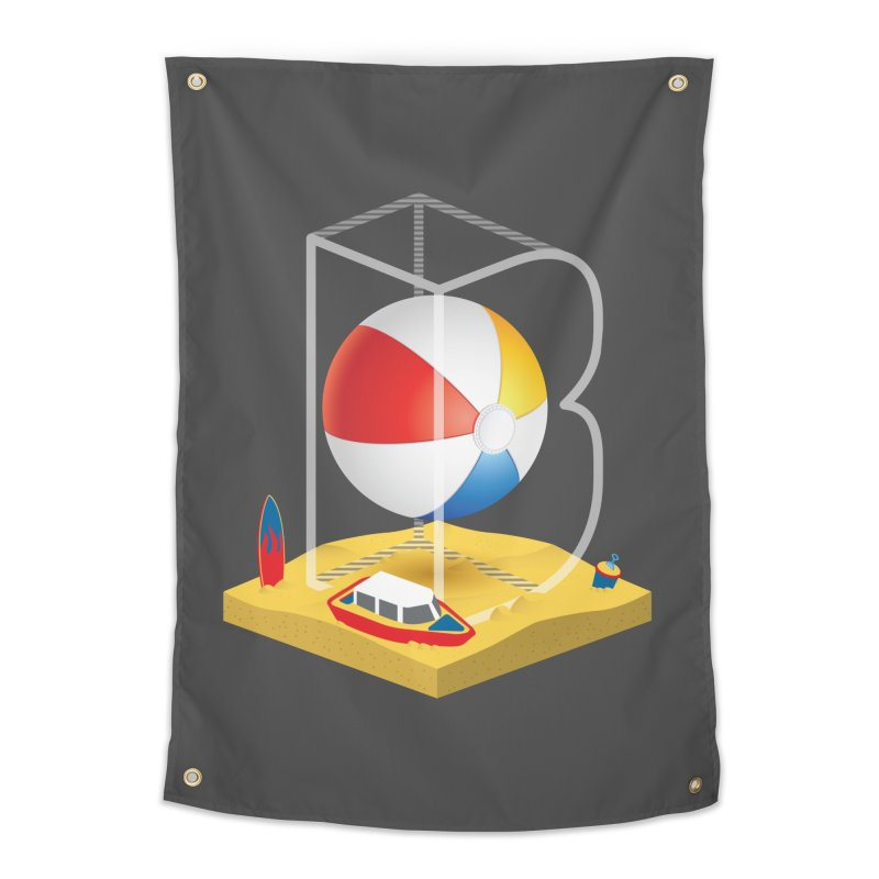 B is for,,, Home Tapestry by Rocket Artist Shop