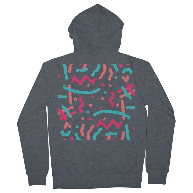 Brushed Dream Men's French Terry Zip-Up Hoody by Rocket Artist Shop