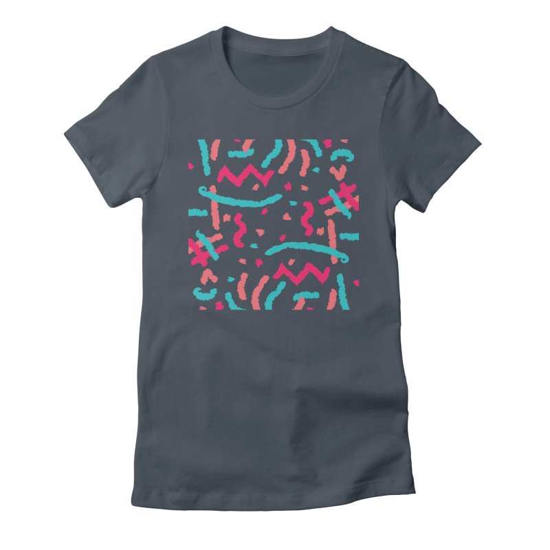 Brushed Dream Women's Fitted T-Shirt by Rocket Artist Shop