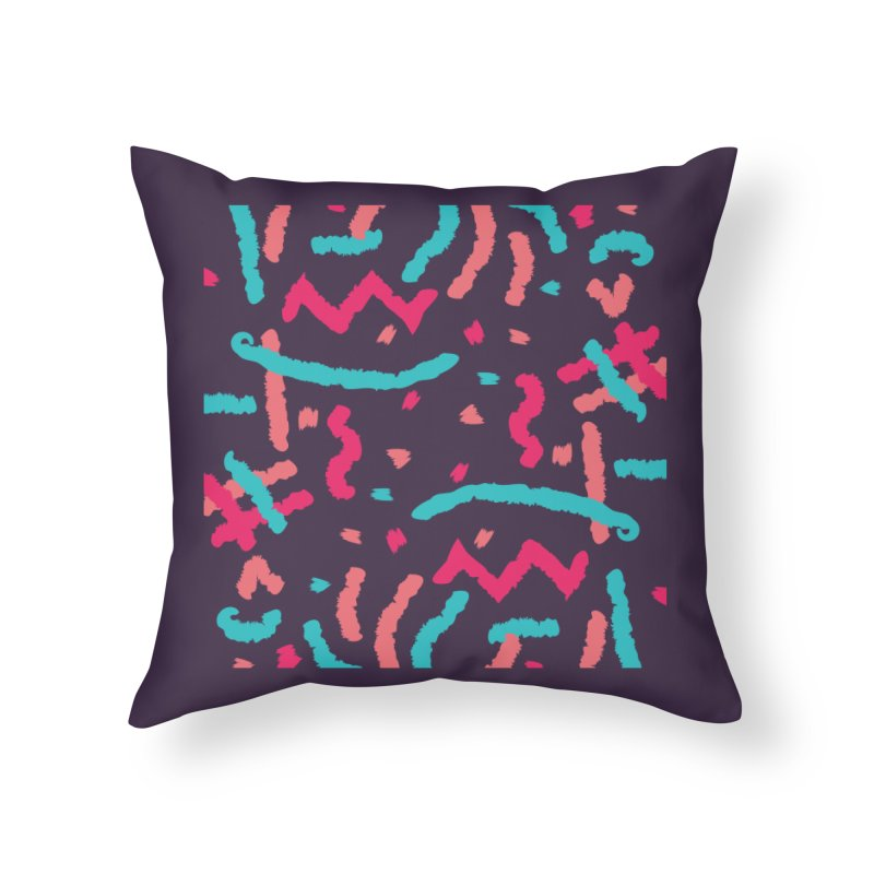 Brushed Dream Home Throw Pillow by Rocket Artist Shop