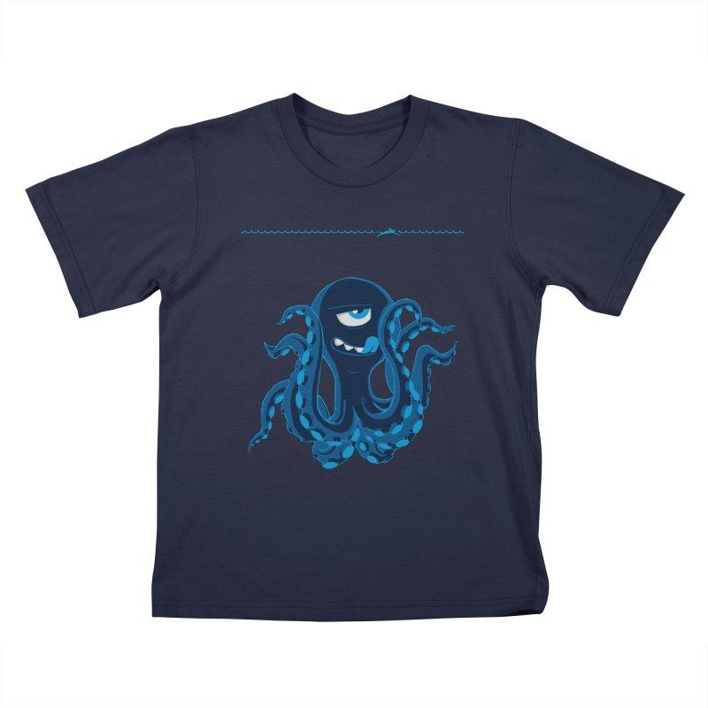 DEEP BLUE Kids Toddler T-Shirt by Rocket Artist Shop