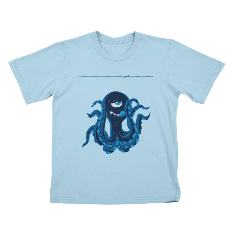 DEEP BLUE Kids T-shirt by Rocket Artist Shop
