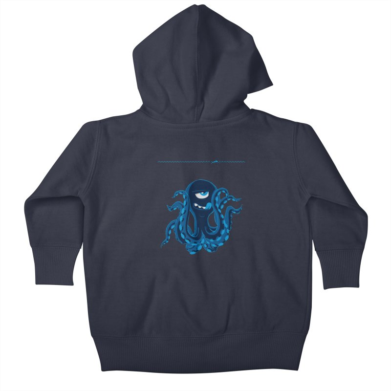 DEEP BLUE Kids Baby Zip-Up Hoody by Rocket Artist Shop