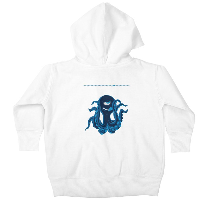 DEEP BLUE Kids Baby Zip-Up Hoody by Rocket Artist Shop