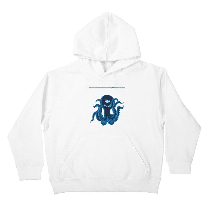 DEEP BLUE Kids Pullover Hoody by Rocket Artist Shop