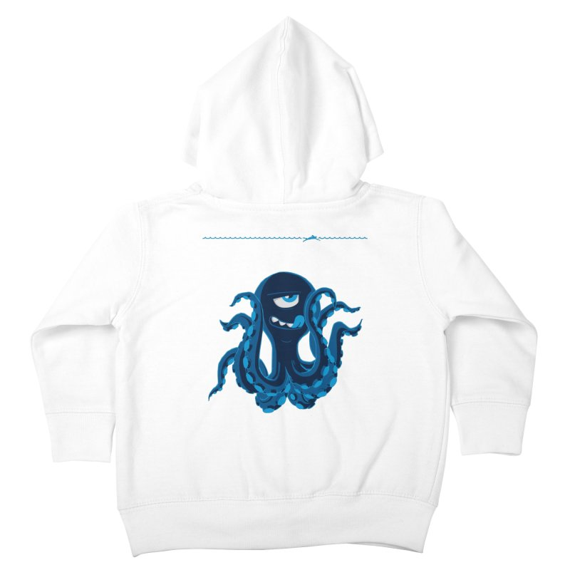DEEP BLUE Kids Toddler Zip-Up Hoody by Rocket Artist Shop