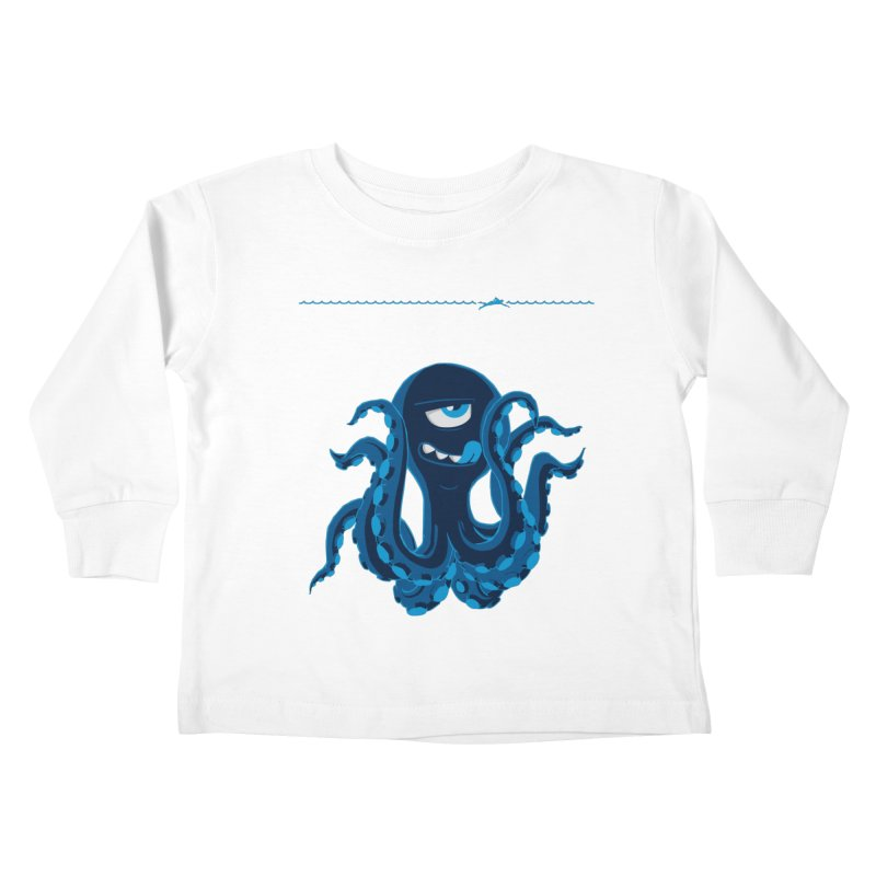 DEEP BLUE Kids Toddler Longsleeve T-Shirt by Rocket Artist Shop