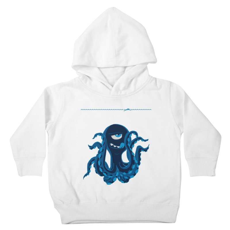 DEEP BLUE Kids Toddler Pullover Hoody by Rocket Artist Shop