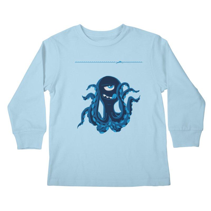 DEEP BLUE Kids Longsleeve T-Shirt by Rocket Artist Shop