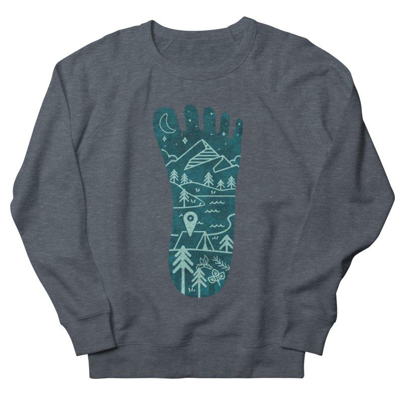 Keep Walking Women's French Terry Sweatshirt by Rocket Artist Shop