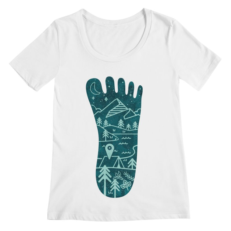 Keep Walking Women's Regular Scoop Neck by Rocket Artist Shop