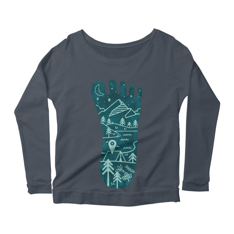 Keep Walking Women's Scoop Neck Longsleeve T-Shirt by Rocket Artist Shop
