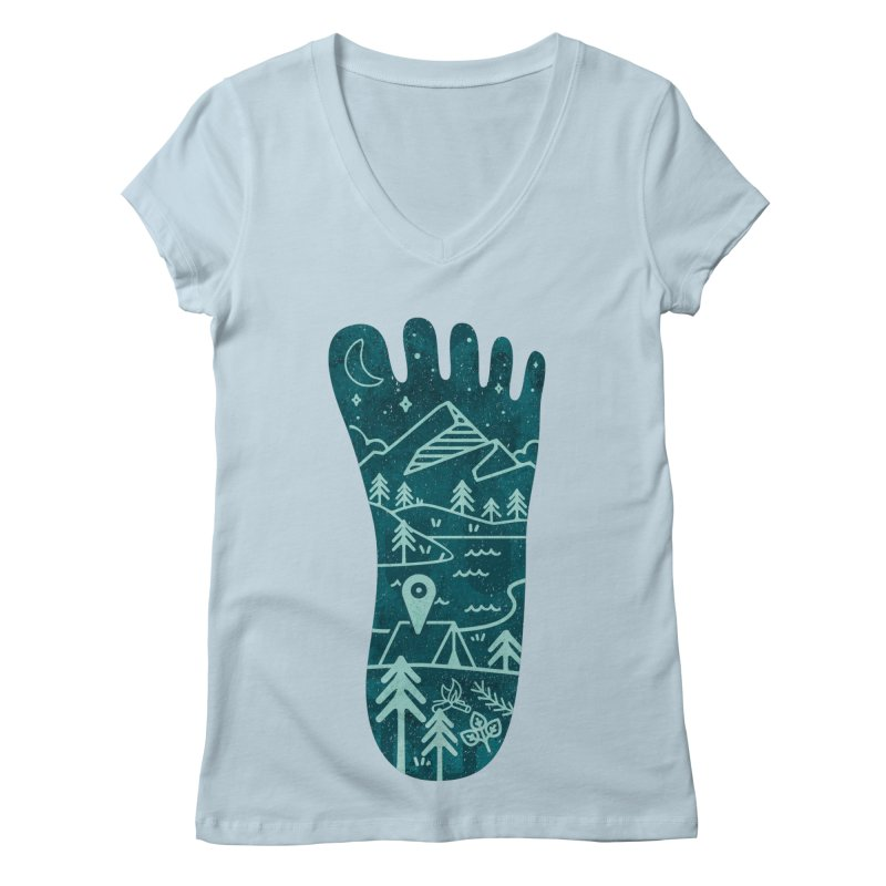Keep Walking Women's Regular V-Neck by Rocket Artist Shop