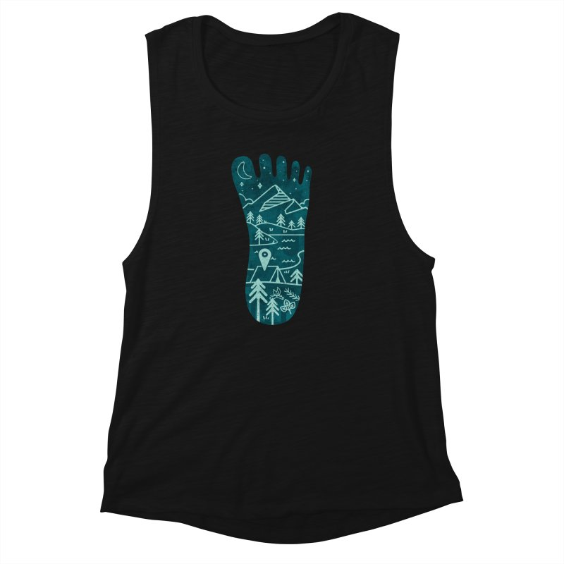 Keep Walking Women's Muscle Tank by Rocket Artist Shop