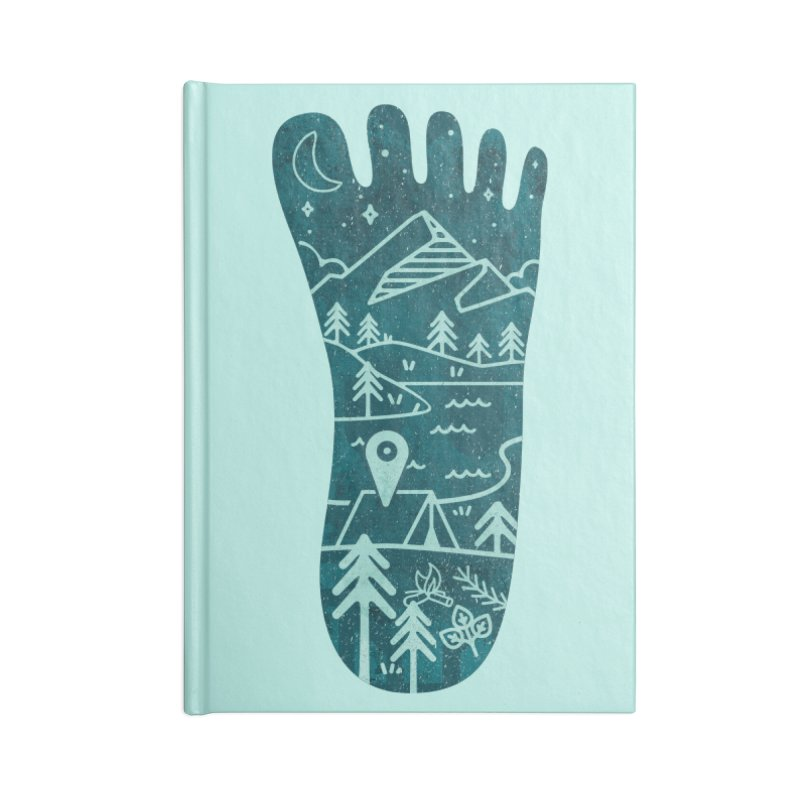 Keep Walking Accessories Lined Journal Notebook by Rocket Artist Shop