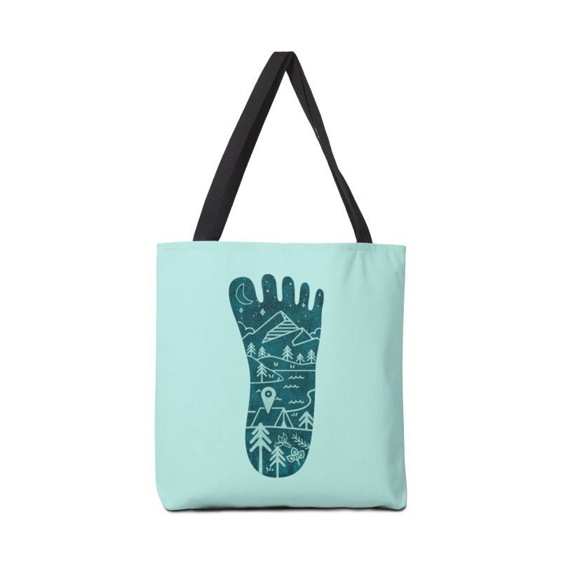 Keep Walking Accessories Tote Bag Bag by Rocket Artist Shop