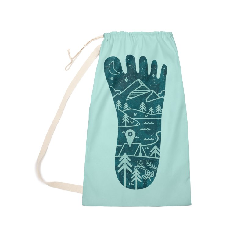 Keep Walking Accessories Laundry Bag Bag by Rocket Artist Shop