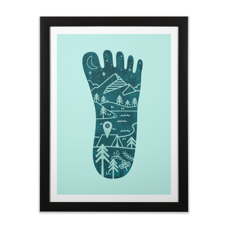 Keep Walking Home Framed Fine Art Print by Rocket Artist Shop