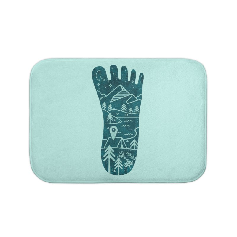 Keep Walking Home Bath Mat by Rocket Artist Shop