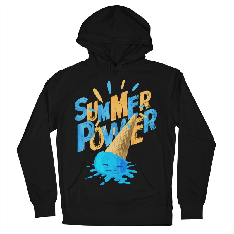 Summer Power Men's French Terry Pullover Hoody by Rocket Artist Shop