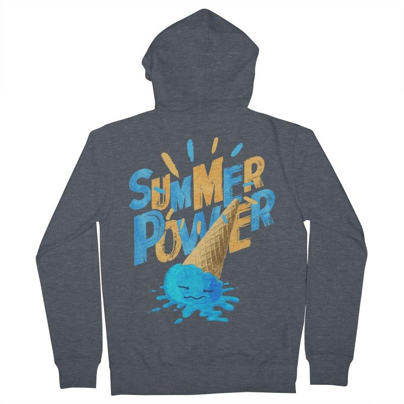 Summer Power Women's French Terry Zip-Up Hoody by Rocket Artist Shop