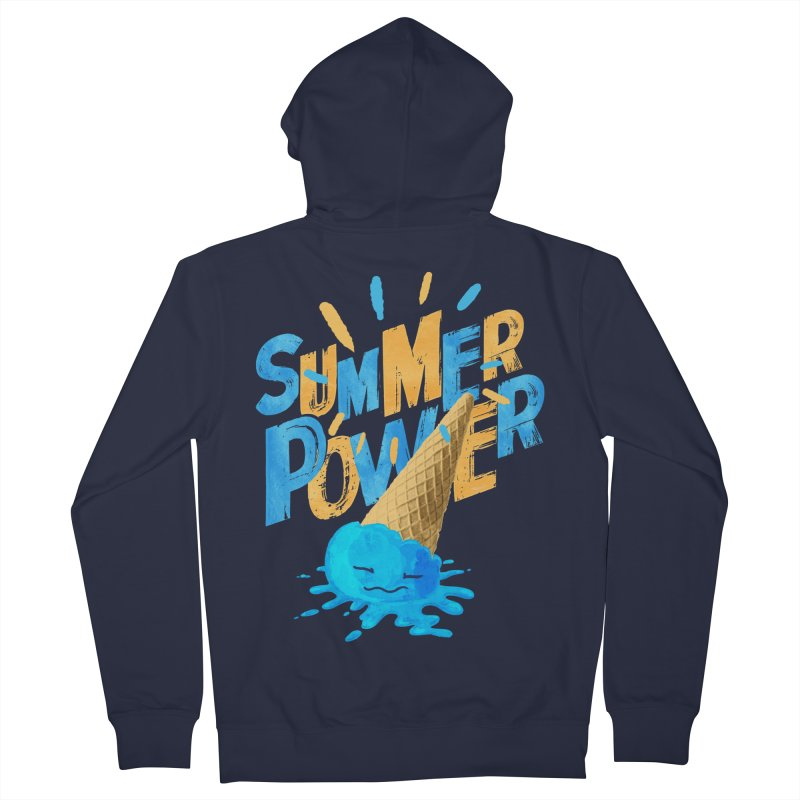 Summer Power Men's French Terry Zip-Up Hoody by Rocket Artist Shop