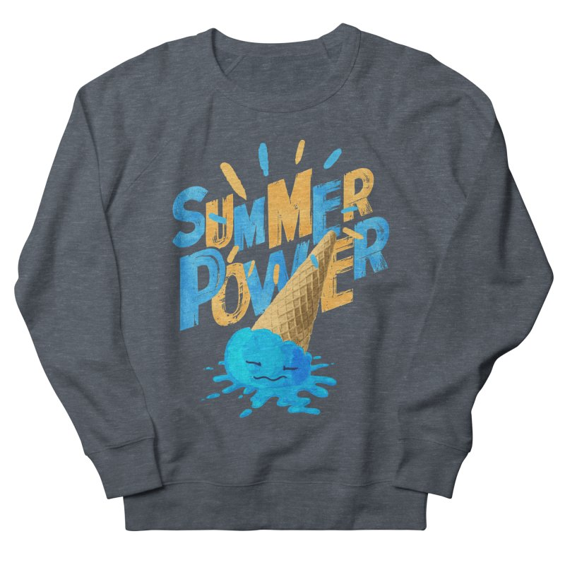 Summer Power Women's French Terry Sweatshirt by Rocket Artist Shop