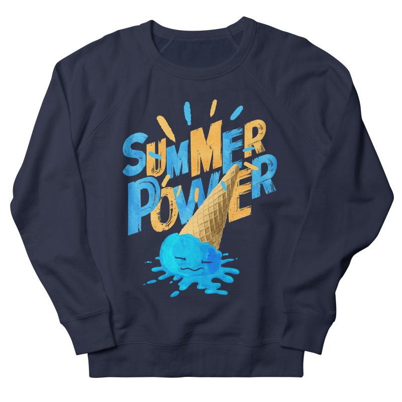 Summer Power Women's French Terry Sweatshirt by Rocket Artist Shop