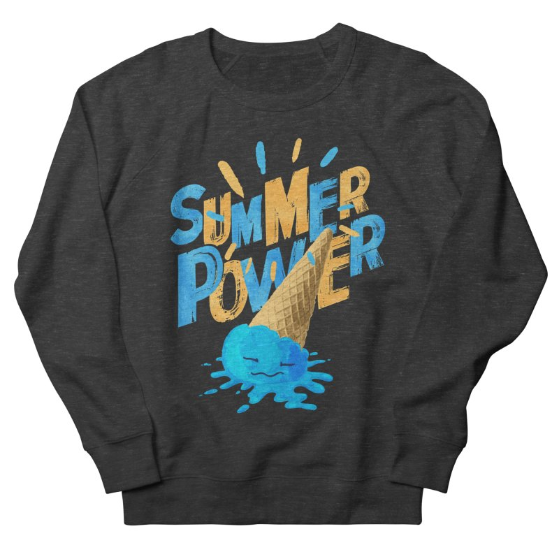 Summer Power Men's French Terry Sweatshirt by Rocket Artist Shop