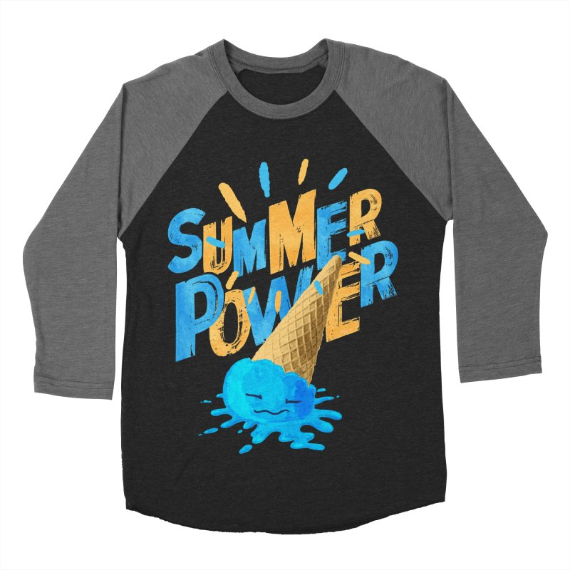Summer Power Women's Baseball Triblend Longsleeve T-Shirt by Rocket Artist Shop