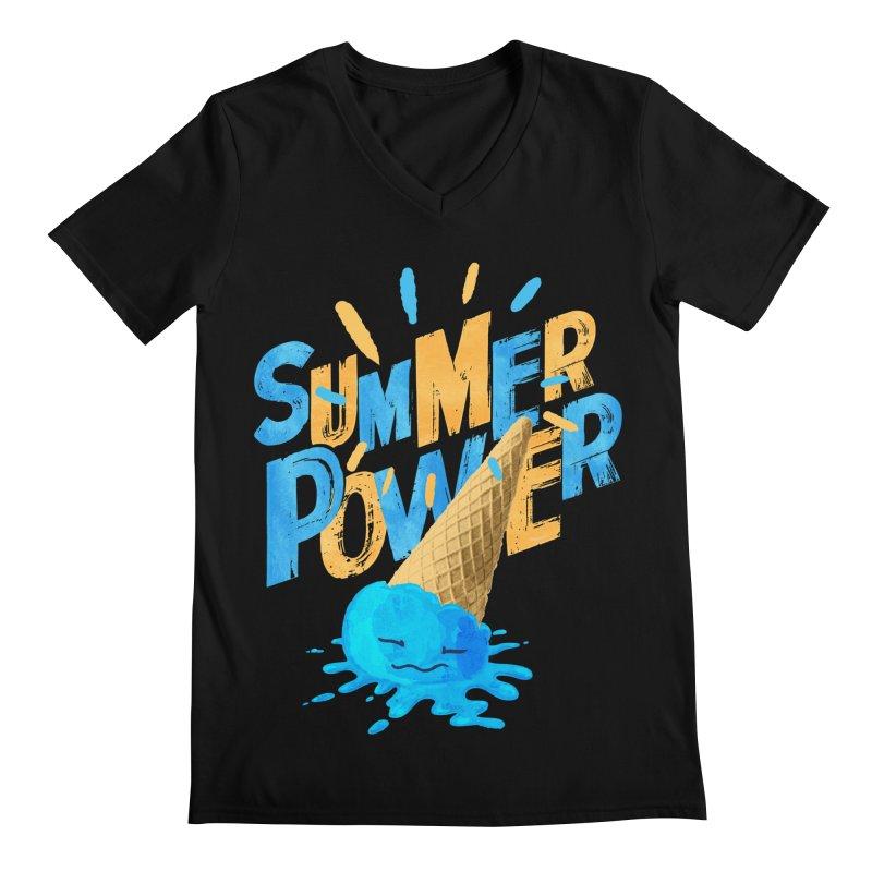 Summer Power Men's V-Neck by Rocket Artist Shop