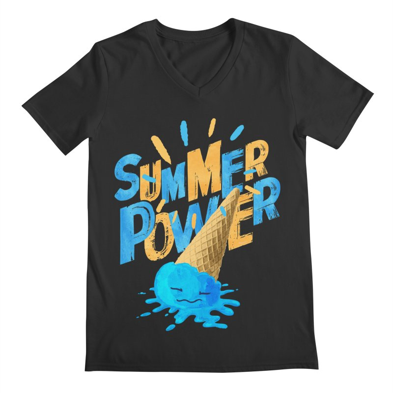 Summer Power Men's Regular V-Neck by Rocket Artist Shop