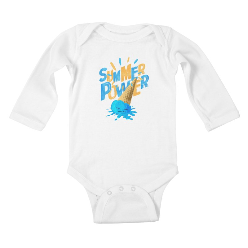 Summer Power Kids Baby Longsleeve Bodysuit by Rocket Artist Shop