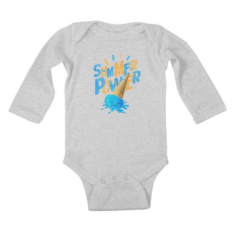 Summer Power Kids Baby Longsleeve Bodysuit by Rocket Artist Shop