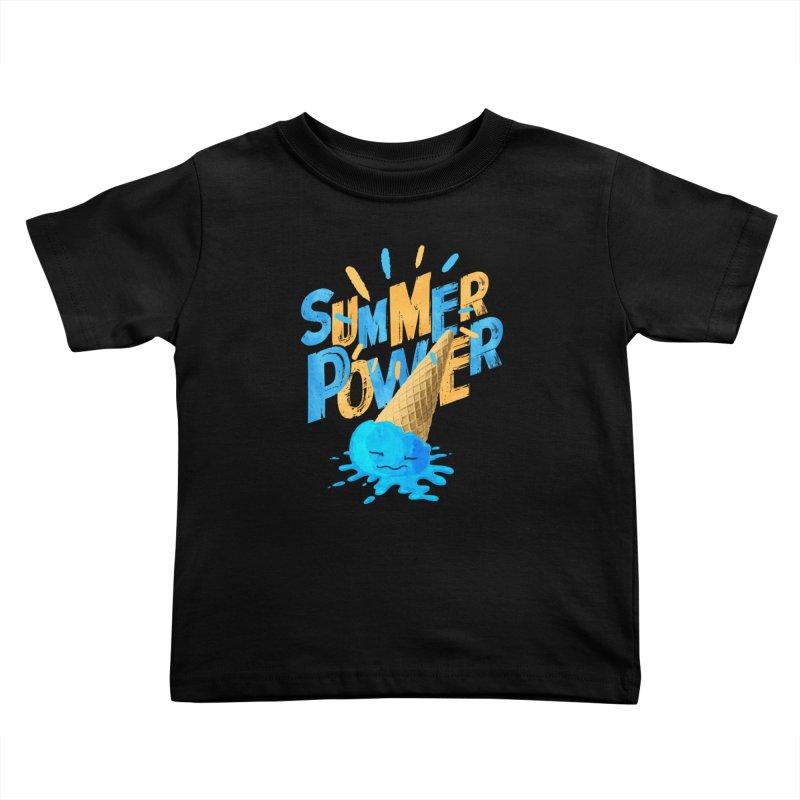Summer Power Kids Toddler T-Shirt by Rocket Artist Shop