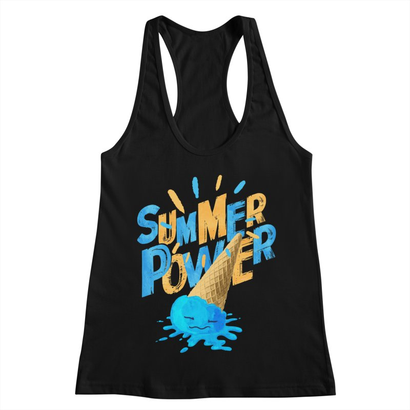 Summer Power Women's Racerback Tank by Rocket Artist Shop