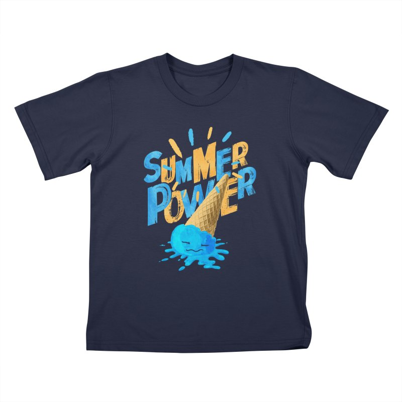 Summer Power Kids T-Shirt by Rocket Artist Shop