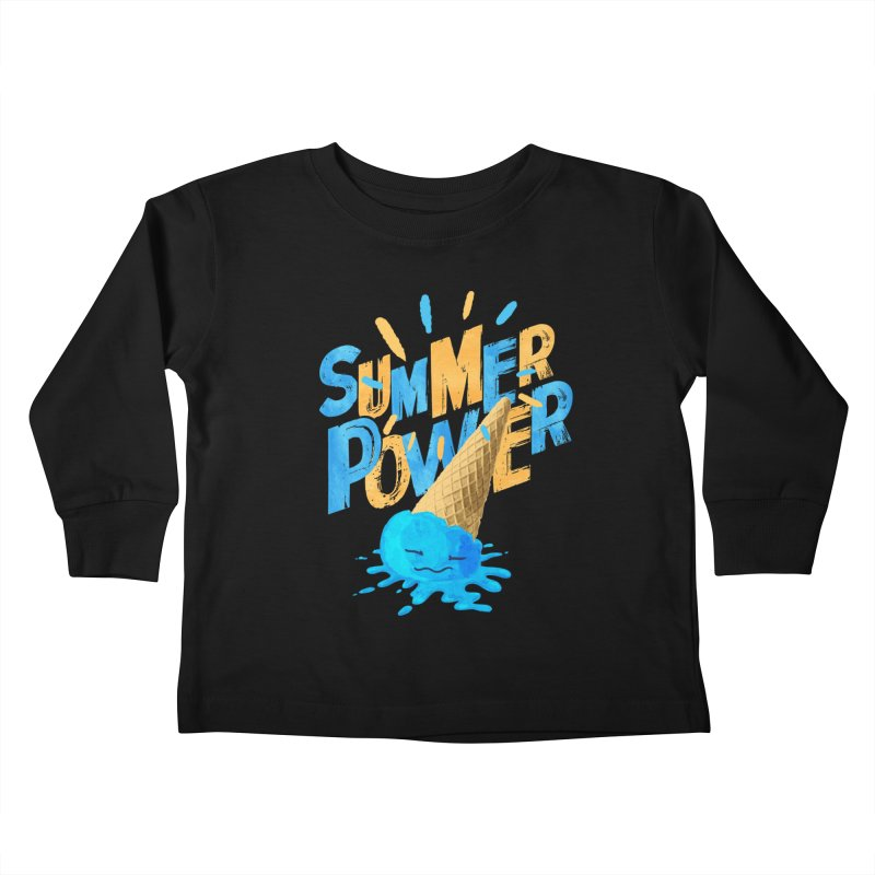 Summer Power Kids Toddler Longsleeve T-Shirt by Rocket Artist Shop