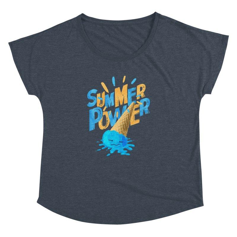 Summer Power Women's Dolman Scoop Neck by Rocket Artist Shop