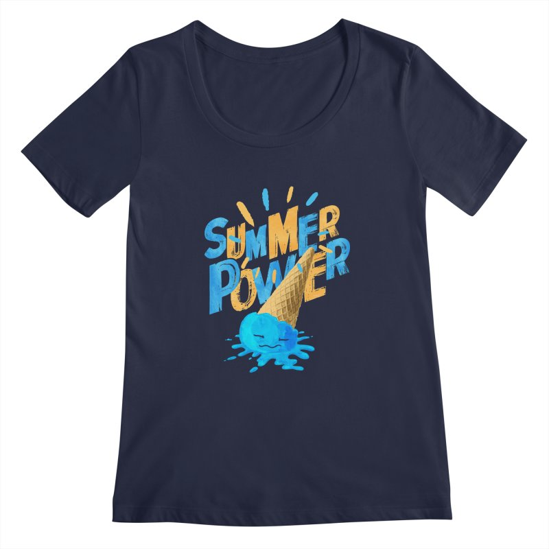 Summer Power Women's Regular Scoop Neck by Rocket Artist Shop