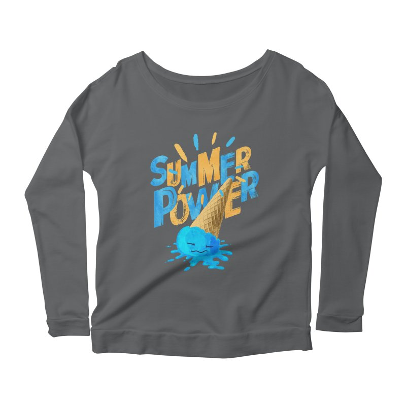 Summer Power Women's Scoop Neck Longsleeve T-Shirt by Rocket Artist Shop