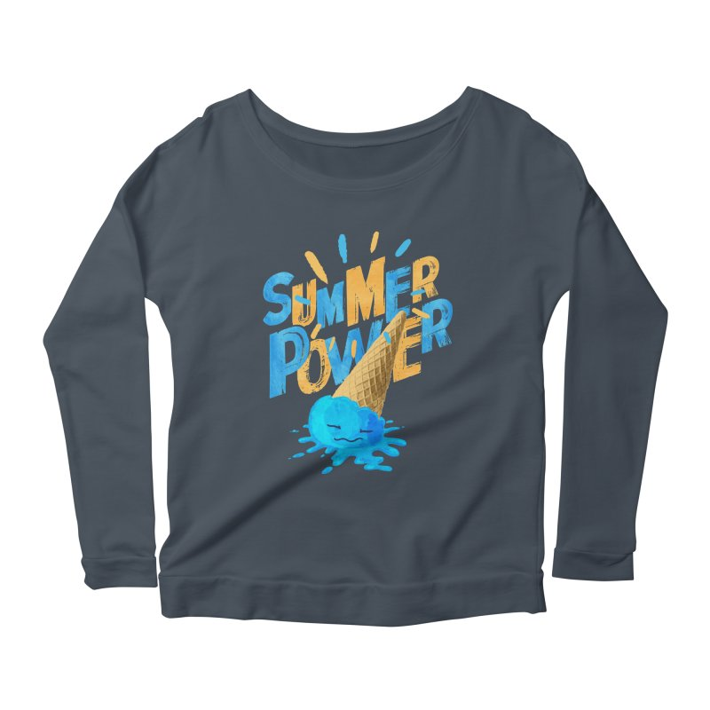 Summer Power Women's Scoop Neck Longsleeve T-Shirt by Rocket Artist Shop