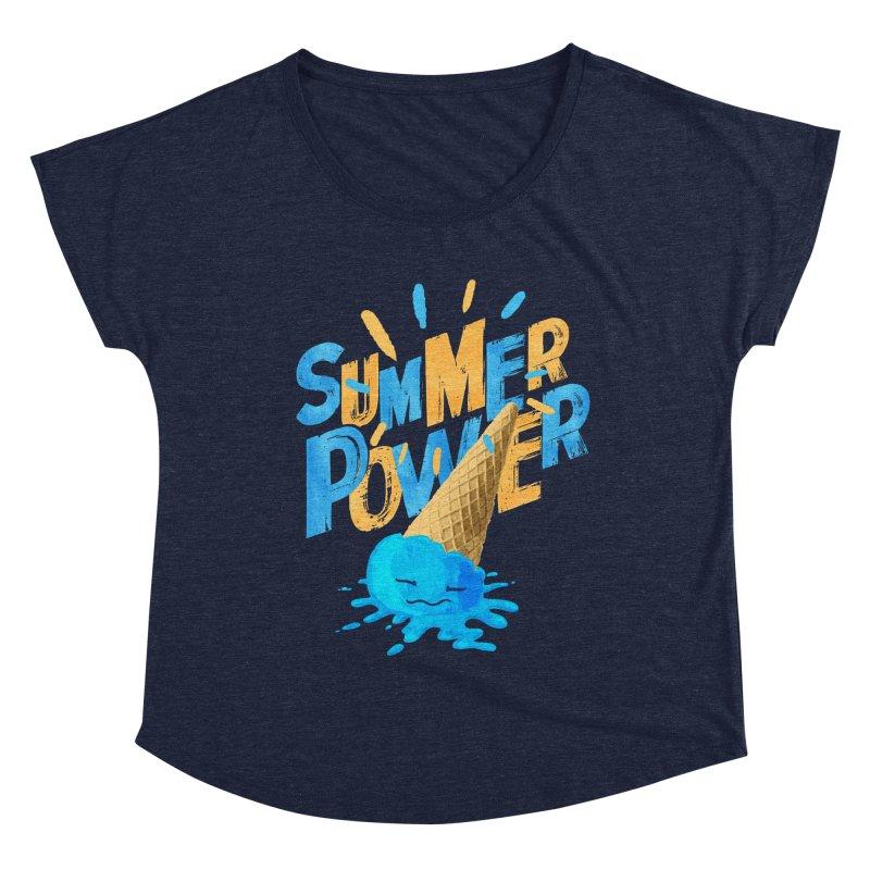 Summer Power Women's Scoop Neck by Rocket Artist Shop
