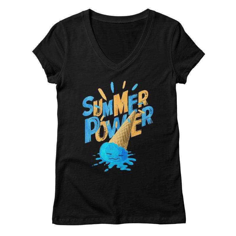 Summer Power Women's V-Neck by Rocket Artist Shop